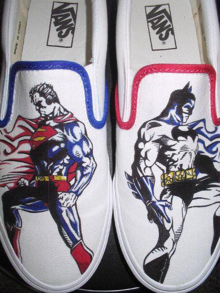 9ee46caba1 Batman Superman VANS by Jakmunky on DeviantArt