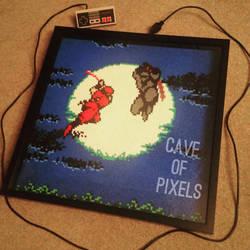 Ninja Gaiden pixel bead scene by caveofpixels
