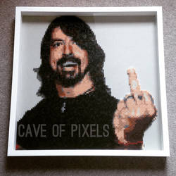 Dave Grohl pixel bead art by caveofpixels