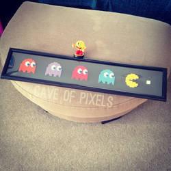 Pac-Man long pixel bead art by caveofpixels