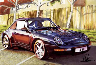 Porshe 911 Marker rendering by makthedragon76