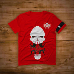 Red Skull - Tshirt Design by GasaiYoshi