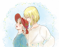 Sophie and Howl by akinta79