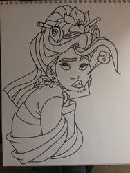 Mulan Outline by yeaboikat