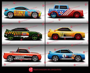 Illustration Cars - Game by MauricioMassami