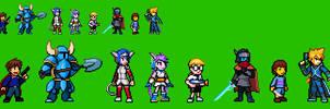 Indie Games Characters Sprites (Part 1) by KentoBalisto