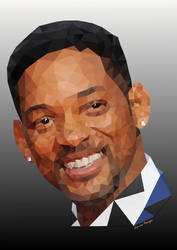 Will Smith - lowpoly portrait by LeovP