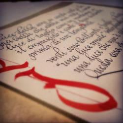 Calligrafia italica by DeRupe