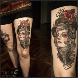Lady by Santi Bord , Think Tattoo Parlour by VONTHINK