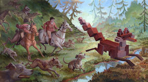 'Menagerie' Series: Foxhunt by Biffno
