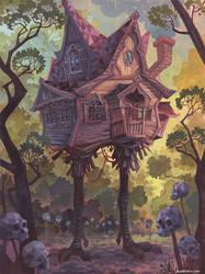 The Hut On Chicken Legs by Biffno