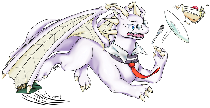 Wistful Nerdragon Remy (March drawing) by SushiOverAura