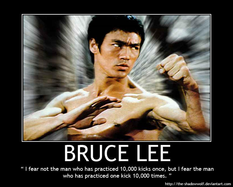 Motivational Poster Bruce Lee By The Shadowwolf