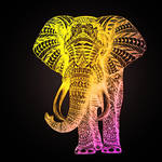 Hi Fi Elephant with Lighted Background by ViciousBunnies