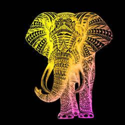 Hi Fi Elephant with Black Background by ViciousBunnies