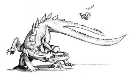 Crouching Dragon Striking Snail by Lunarsmith