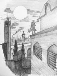 Drawlloween 2018: Hunter's Moon by Lunarsmith