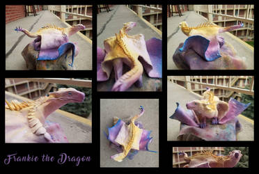 Frankie the Dragon Sculpture by kaseylsnow