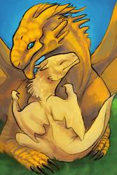 Cuddle With Dragon Dad by kaseylsnow