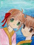 Sakura and Shaoran by BoxcarChildren