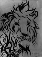 Tribal lion by theblackalma13