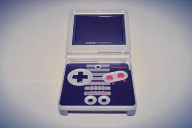Gameboy Advance SP by reixii