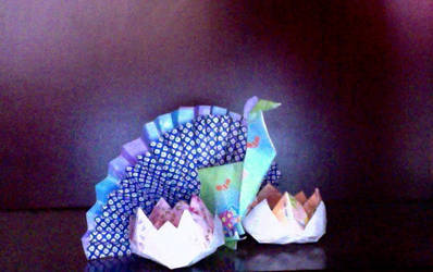 National Pride of India Origami by puffugu
