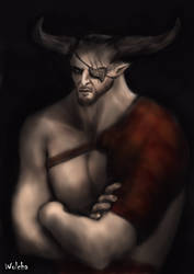 Iron bull disapproves by Wolchenka