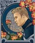 Steve Rogers and Lotus (Art Nouveau) by Wolchenka