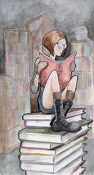 The Avid Reader by bms-DA
