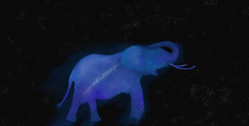 Galaxy elephant spirit by Jdriscoll20