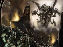 Warhammer 40k: The Tyranid Hive Fleet by Jorsch