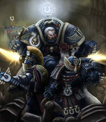 Warhammer 40k: Marneus Calgar and Honor Guard by Jorsch