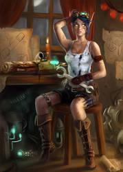 Rivaryn - Bloodelf Engineer by Jorsch