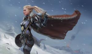 WoW Warrior Ariel by Jorsch
