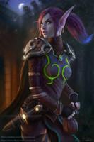 Void Elf Rogue Sharwyn by Jorsch