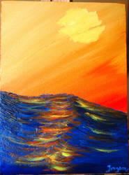 Slow Sunset by Janorien