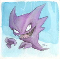 Inktober #6 - Haunter by OnyxSerpent