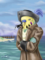 Capt'n Seedface, Budgie Pirate by OnyxSerpent