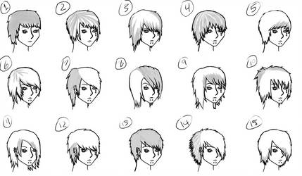 The Many Hairstyles of Erik Liridon Black by xPanicxLovex