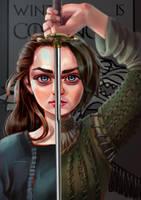 Arya Stark by seroglazka