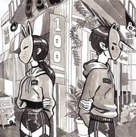 Bunny and Cat by seroglazka