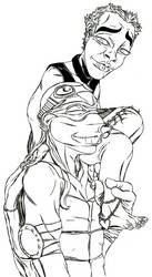 TMNT RP Sketch- 'Piggyback' by muffinelf