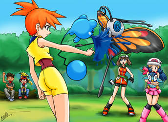 misty vs may and dawn by mauroz