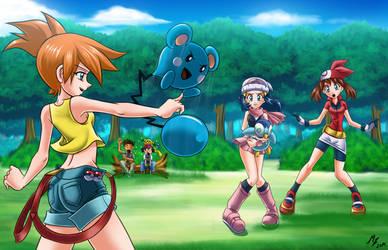kasumi vs haruka and hikari : pokemon by mauroz