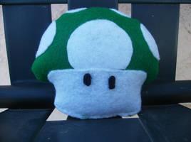 Mario Mushroom Plush: Front. by ShortAxel