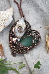 Sea Love - pendant by Egarimea