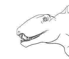 Dimetrodon Head Shot by dracontes