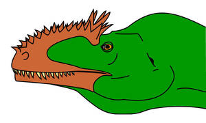 Carcharodontosaurid in vector by dracontes