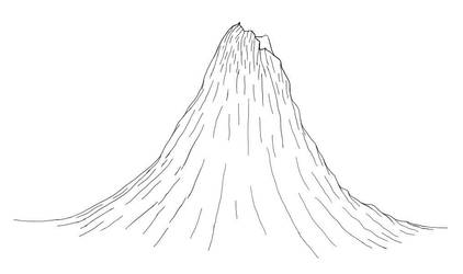 Volcano in Digital Ink by dracontes